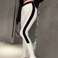 Women Leggings Yoga Pants With Letters Prineted Slim Bottoms For Lady Outwears Sport Style Track Pant Black And White Colors Asian Size S--L