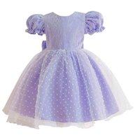 Vestido de bebê lace meninas vestidos grandes bowknot 1º vestido de aniversário para bebê menina princesa vestido criança roupa infantil roupas 0-4T B4029