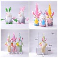 Gnomi di Pasqua Gnomi senza volto Bunny Dwarf Doll Rabbit Peluche Giocattoli per bambini regalo felice festa di Pasqua decorazione della casa LLA409