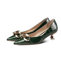 Dress Shoes Cresfimix Zapatos De Mujer Women Classic Green Pu Leather European Style Party Night Club 5cm Stiletto Heel Sapatos A9429