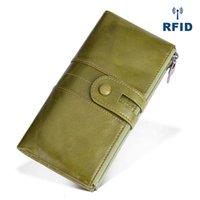 Wallets Fashion R Women Genuine Leathe Female Purse Leather Long Womens Purses Card Holder Wallet Case Carteira Masculina