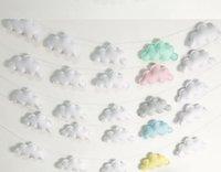 Bulutlar Asılı Damla Kolye Dekor Bebek Odası Dekorasyon Nordic Duvar Asılı Süsleme Fotoğraf Sahne Ev Odası Süsleme GWC7004