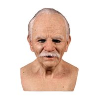 Máscaras de fiesta Máscara de látex de la látex Halloween Props Bald arrugado Masquerade Prop Terror Película Cosplay Scary Wig MaskcosPlay
