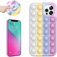 Case For iPhone 11 12 PRO MAX Pop Zappeln Toys Phone Case Silicon Blaze Popper Shelves for Apple Iphone7 8 XR XS