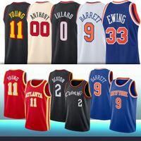0 Damian 9 RJ Lillard Barrett 11 Trae 33 Patrick Ewing 2 Collin Young Sexton Men Kids 2021 NCAA Basketball Jerseys