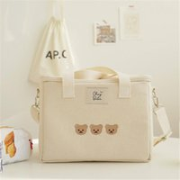 Diaper Bags Bear Embroidery Thermal Insulation Mommy Bag Multifunctional Mother Baby Out Messenger Fashion Waterproof Storage
