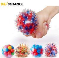 Squeeze Globs Juguete Alivie el estrés ADN Squish DecomPresione Bolas de colores Cuentas de colores Herramienta de ejercicio de la mano para niños / adultos
