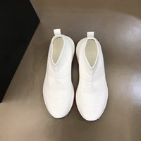 High quality casual autumn men's fashion show shoes luxury designer Men socks shoe black and white breathable mesh material with box size38-44