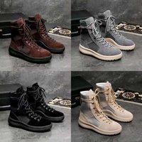 Sıcak Erkekler Ve Kadınlar Moda Ayakkabı Yüksek Çizmeler En İyi Kalite Tanrı'nın Korkusu Top Askeri Sneakers Yüksek Ordusu Çizmeler Çizmeler Smvo