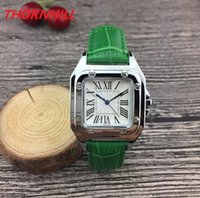 TOP Fashion Luxury Women Square Designer Watch 32mm nice designer leather Lady Watch High Quality Quartz Clock