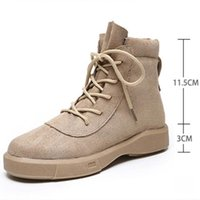 Boots Women Winter Fur Warm Ladies Plush Lining Booties Ankle Boot Suede Shoes Lace Vintage 35-40