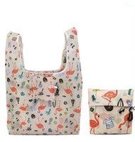 حقائب التسوق قابلة للطي ودية تخزين حقيبة يد المنظم جميلة قابلة لإعادة الاستخدام الفاكهة الخضار حقيبة سعة كبيرة البوليستر المحمولة DHE8785