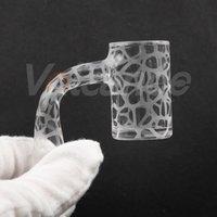 Zandstraalde Quartz Banger Volledige lasnagels voor het roken van waterpijpolie DAB Rigs Glass Bongs