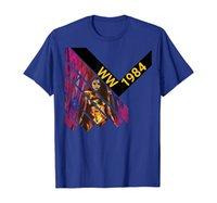 WW 1984 Comiccon Женщина футболка Wonder 84 Ретро комиксов