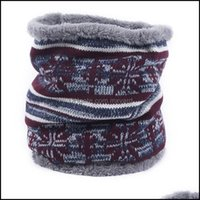Protective Gear Cycling Sports Outdoorscycling Caps & Masks Men Women Knitted Scarf Printed Collar Warm Single Ring Fur Headband Neck Winter