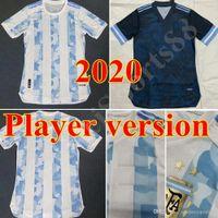 2021 Oyuncu Sürümü Arjantin Futbol Forması 21 22 Ev Uzakta # 10 Messi Gömlek Aguero Icardi di Maria Futbol Üniforma Satış