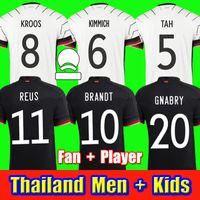 2020 Allemagne 축구 유니폼 Hummels Kroos 팬 선수 축구 셔츠 20 21 Draxler Reus Muller Gotze 남성 여성 키트 키트