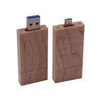 나무 OTG USB PENDRIVE USB3.0 FlashDrive 펜 드라이브 사용자 정의 어두운 플래시 128GB u 막대기