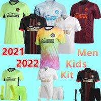 2021 Özel MLS Atlanta United FC Futbol Forması 7 Martinez 12 Robinson 8 Barco 22 Damm Maç Özel Formalar Erkekler Çocuklar + Kiti Futbol Gömlek