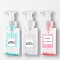 4 pcs 450ml Espuma Sabonete Soap Shampoo Dispenser Lotion Factor de Espuma Líquido Recipiente Portátil Limpeza Facial Engarrafamento 4 Cores