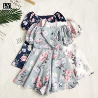 LY VAREY LIN Summer Women Casual Floral Square Collar Jumpsuit Shorts Bohemian Short Sleeve High Waist 210526