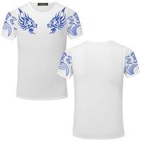 Erkek T Gömlek Çift Altın Dragon Jakiro Baskı Zsiibo T Shirt Moda Marka Yeni T-shirt Kısa Kollu O-Boyun Tees M-3XL TX141-F Tops