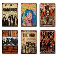 2021 Gunrosos Metal Cartaz Lata Sinal Vintage Johnny Cash Música Metal Placa Placa Bar Bar Sinal De Parede Doce Doce Decoração Da Placa de Parede