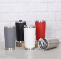 Neue Mode 20 Unzen Trinkbecher Tumbler mit Deckel Edelstahl Weinglas Vakuum Isolierte Tasse Reise 18 ° C