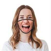 US Maszyny do wielokrotnego użytku Zmywalne Zabawna Moda Kobiety Maska 3D Wyrażenie Emocje Osobowości Maski Dustoodporne Wdychanie Oddychające Kobiety Maski