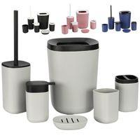 Комплект аксессуаров для ванн 6 шт. Пластиковые аксессуары для ванной комнаты Основная зубная щетка держатель для мыла для мыла для мыла