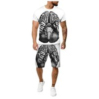Men's Tracksuits Simplicity Men Clothing Tracksuit Sets 2021 Summer Tops T-Shirt Shorts Suit Male Female Fashion Short Sleeve Two Piece Set