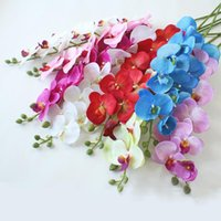 Decorative Flowers & Wreaths 5 Pcs 9 Heads 3D Phalaenopsis Artificial Real Touch Home Room Decor Silk Orchid For Christmas Wedding Party Dec
