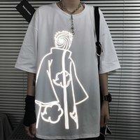 Naruto Tshirt Streetwear Erkekler Yaz Amin Pamuk Harajuku T-shirt Rahat Karikatür Komik Japonya Yansıtıcı Tshirt Streetwear 210304 Tops