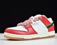2021 Çerçeve Skate X Dunks Düşük Tasarımcı Ayakkabı Erkekler Bayan Habibi Şili Kırmızı Beyaz Şanslı Yeşil Siyah Spor Kaykay Sneakers Dantel-up Eğitmenler