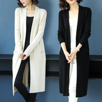 Women's Wool & Blends 2021 Autumn Sweater Women Shawl Coat In With Long Knitted Cardigan Winter Clothes Elegant Abrigos Para Mujer Y2k