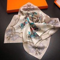 브랜드 디자이너 스카프 50cm * 50cm 잎 코끼리 가족 이름 바람 100 % 실크 전문 작은 정사각형 스카프