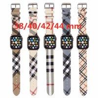 فاخر مصمم جلدية Watchband ل Apple Watch 6 5 4 SE الفرقة سوار رياضة سوار جلد 42 ملليمتر 38 ملليمتر حزام ل iWatch سلسلة 3/2/1 الفرقة