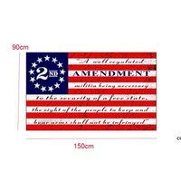 American 2. Änderung Flagge 90 * 150cm Kreative Streifen Polyester US-Flaggen Haushaltsgarten Dekoration Produkte Kostenloses DHL DHF7526