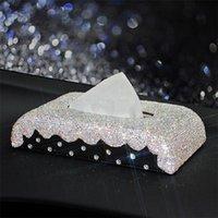 Samochód Wnętrze Tissue Pudełko Surowy 1 sztuk Kryształ Diament Akcesoria Dekoracji Tkanki Uchwyt Opiek