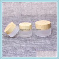 Packing Office School Business & Industrialfrosted Glass Jar Cream Bottles Round Cosmetic Jars Hand Face Bottle 5G-10G-15G-30G-50G Box With
