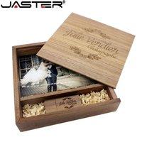 JASTER Maple Photo Album Wood USB+Box Memory Stick Pendrive 8GB 16GB 32GB 64GB Photography Gift Free (170*170*35 mm)