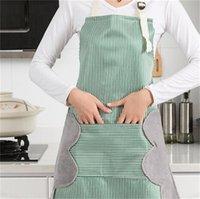 Ménage étanche à la main Tablier de cuisine Tabline de cuisine Stripes Ajustement à carreaux Ajustement anti-faute à l'huile Adulte Tabliers Tabliers de cuisine 131 v2