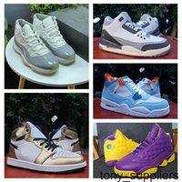 2021 New Jumpman 1 Hohe Herren Basketballschuhe Kaws 3s Union X 4s Blau Cool Grey 11s Männer Skateboard Schuhe Sneakers Größe 40-46
