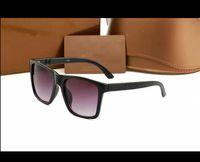 Óculos de sol de designer Top Quality Aviation Piloto Óculos de sol para homens com casos de couro preto ou marrom, pano e acessórios de varejo2247es!