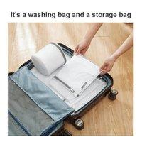 Tvättkassar förtjockad tvättväska strumpor bh underkläder underkläder vård tvätt mesh rese arrangör
