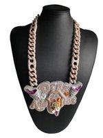 Collares colgantes de alta calidad Industria pesada personalizada de gran tamaño de gran tamaño europeo y americano Hip Hop Necklace Accesorios de moda de la calle