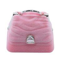 Creative Jewelry Necklace Style Box Bag Earring Ring Case Velvet Handbag Display Gtbhu