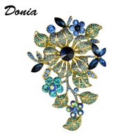 Pins, Brooches Donia Jewelry Brooch High-grade Large Flower European And American Coat Accessories Scarf Pin