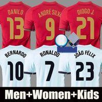2021 maillot de foot RONALDO Portugal BRUNO FERNANDES JOAO FELIX NEVES BERNARDO CANCELO EURO 2020 maillot de football national 20 21 uniformes pour homme et enfant