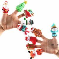 Christmas Halloween Finger Marionnettes Ensemble Douce Dessin animé Caoutchouc Dolls Favoris Favoris Enfants Bureau Jouets Pumpkin Ghost FWB10037